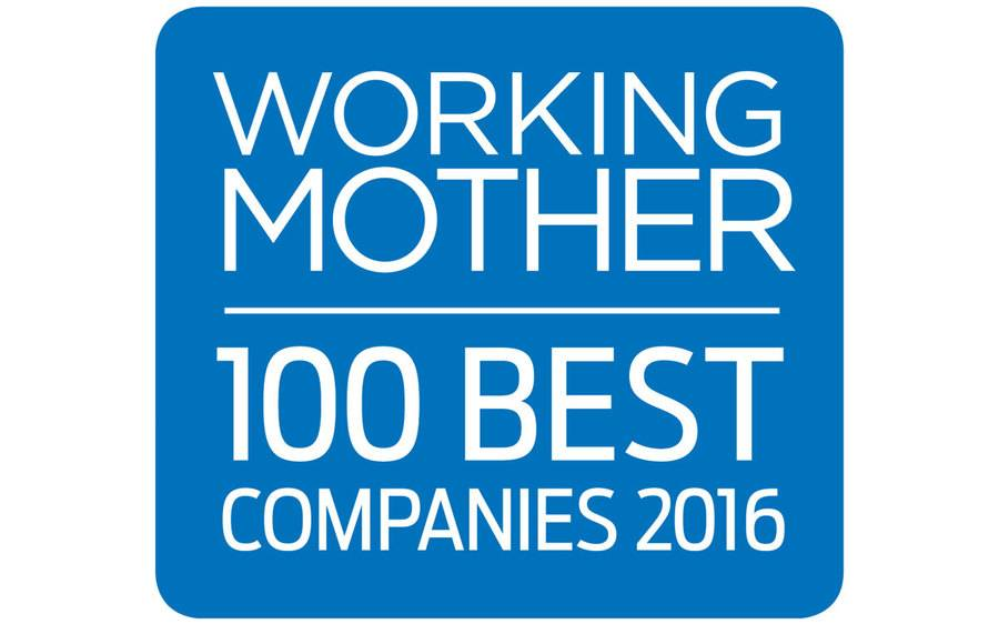Logo for Working Mother's 100 Best Companies 2016