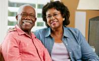 A smiling middle-aged couple represents the full life that can be led after pancreatic cancer treatment.