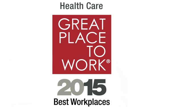 PR – Great Place to Work – Best Workplaces in Healthcare Logo – 2015
