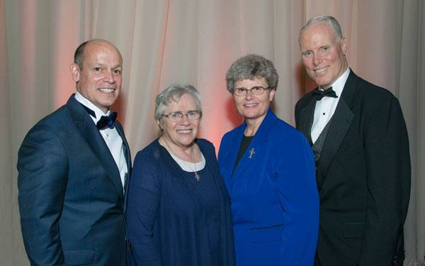 2015-Mercy-Ball-Tom-Gammiere, Sister-Mary-Gallagher, Sister-Laura-Reicks, Chris-Van-Gorder