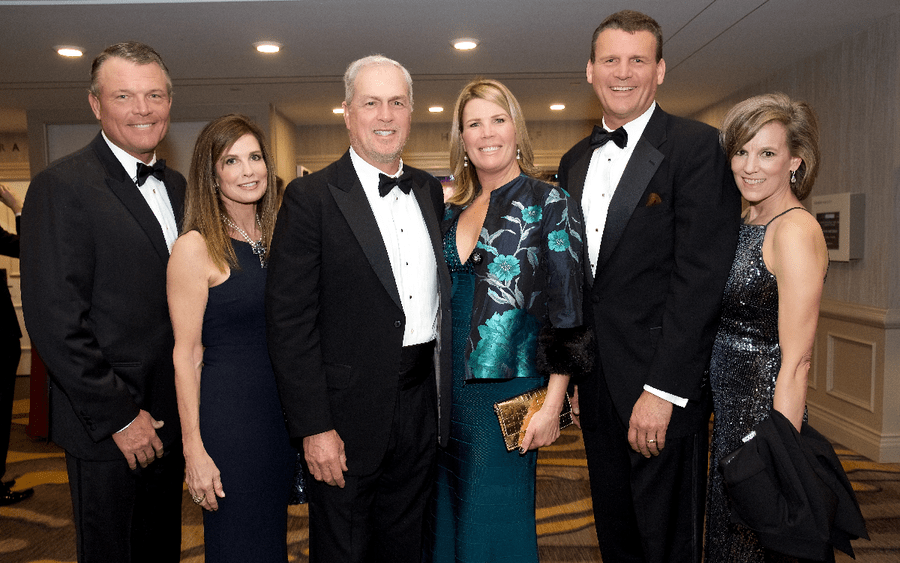 Scripps Mercy Ball photos: left to right: Mike Frager, Ann Frager, Rob Hixson, Gina Hixson, James Frager, Devon Frager