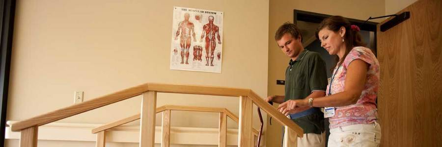 Acute Inpatient Rehab Feature 1 Patient Staircase 1200 × 400