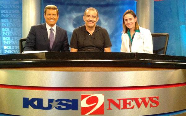 Allen Jeff Marin and KUSI Team. Scripps Health, San Diego