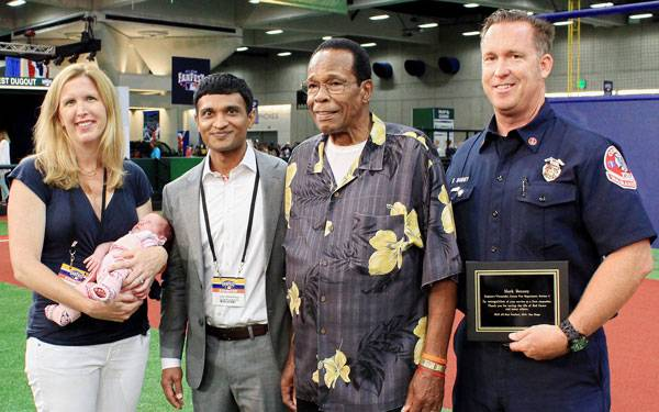 Scripps heart experts joined Hall of Famer & Scripps patient Rod Carew at All-Star Fan Fest to pitch heart health