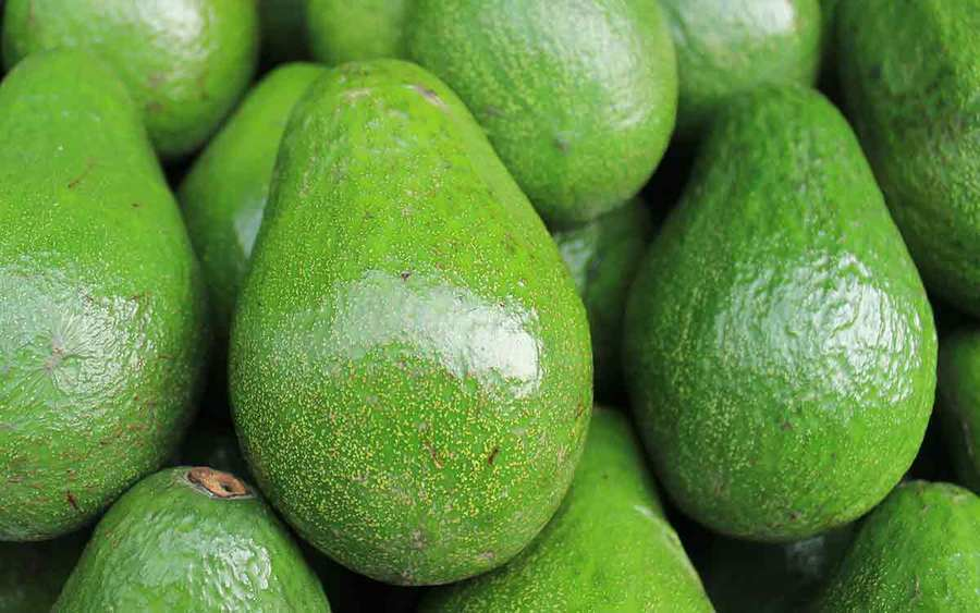 A group of vibrant green avocados represents the types of superfoods you can plant in your garden.