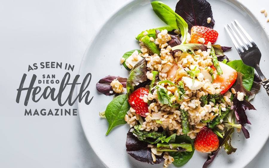 A nutritious salad made with barley, fresh strawberries and grilled asparagus is hearty enough to enjoy for lunch or dinner.