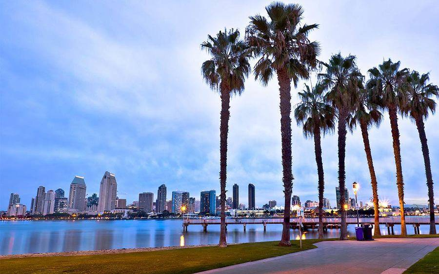 Evening view of Downtown San Diego