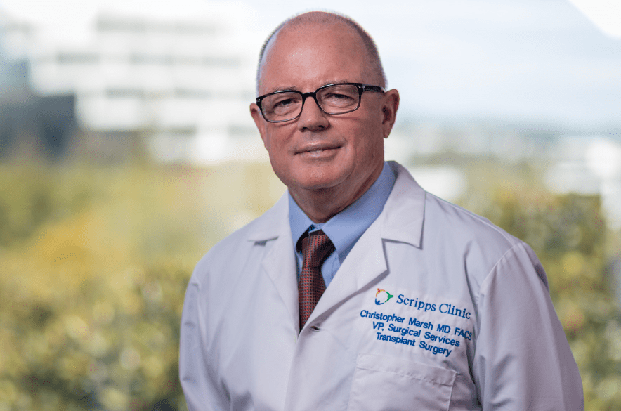 Headshot of Scripps Clinic transplant surgeon Christopher Marsh