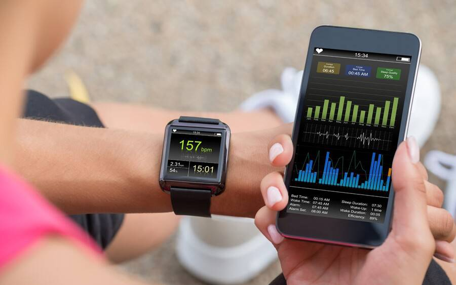 Smartphone and smartwatch devices that help monitor heart activity.