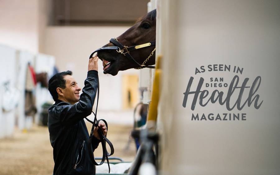 A traumatic injury brought Hall of Fame jockey Victor Espinoza to Scripps, where physicians and rehabilitation specialists helped him recover without surgery.