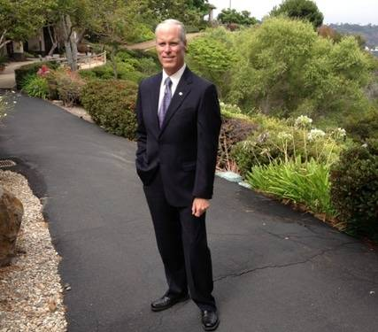 Scripps Health CEO Chris Van Gorder at the former San Diego Hospice facility.
