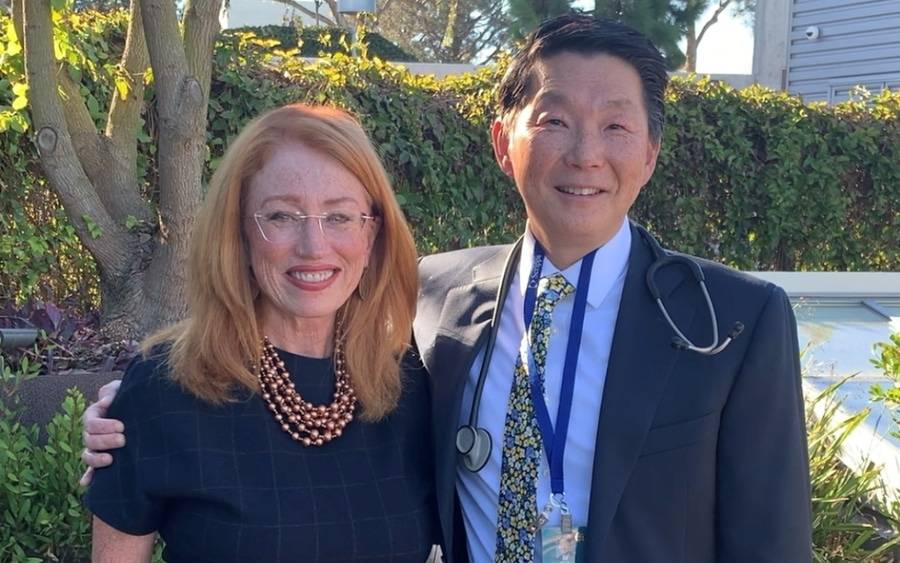 Debra Thomas and Ray Lin, MD, Scripps Anderson Cancer Center.