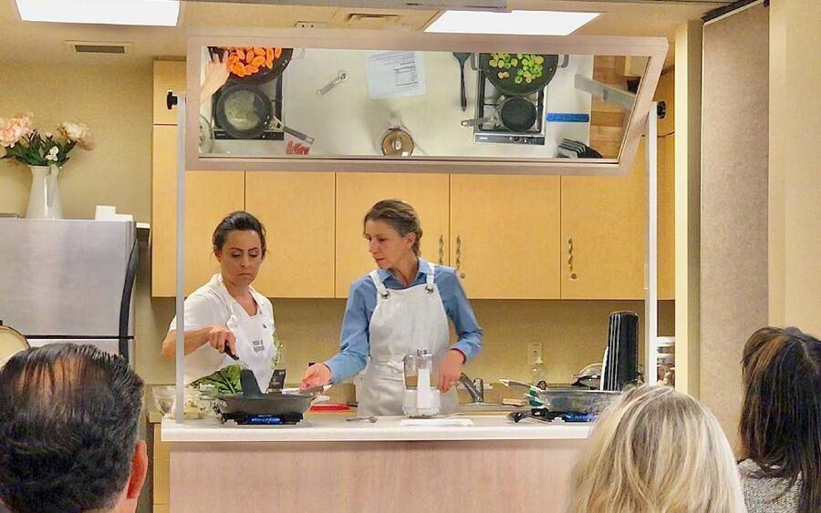 Scripps registered dietitians prepare diabetes friendly recipes.