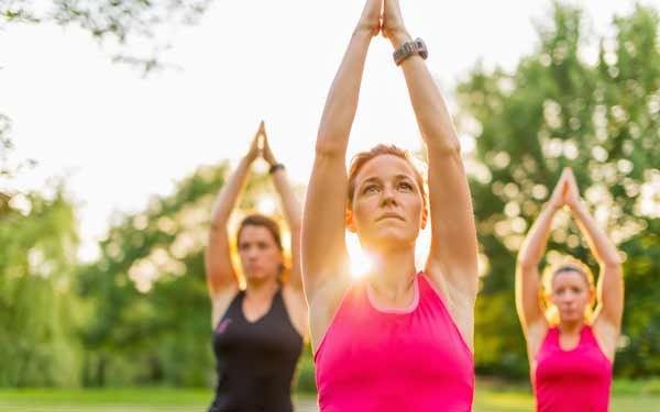 Downtown San Diego Partnership Stretch Yourself Outdoor Yoga