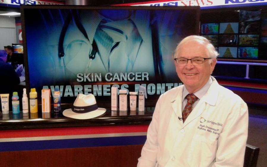 Dr. Hubert Greenway discusses skin cancer on KUSI.