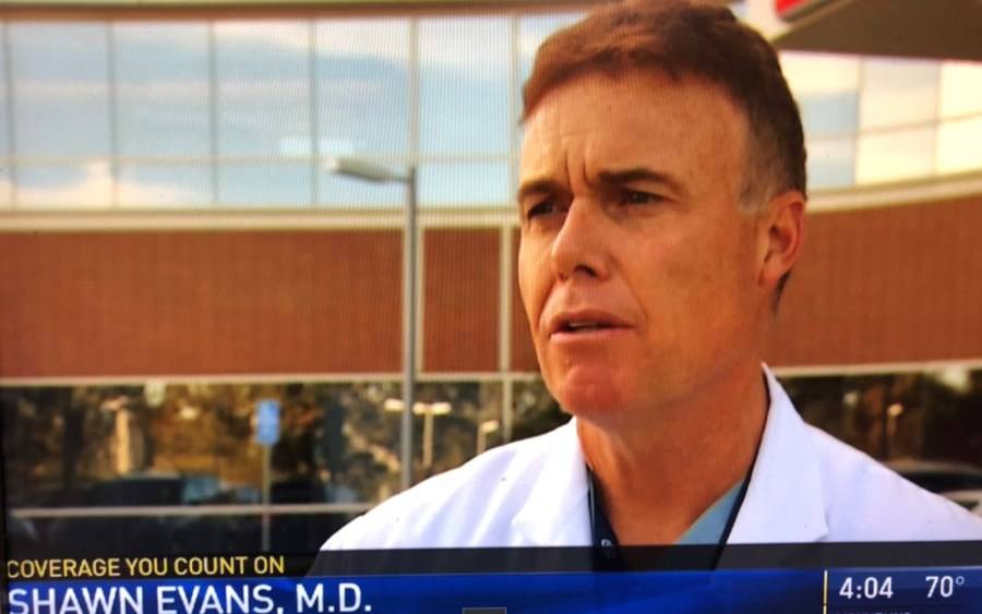 Shawn Evans, emergency medicine, on NBC7 discussing flu