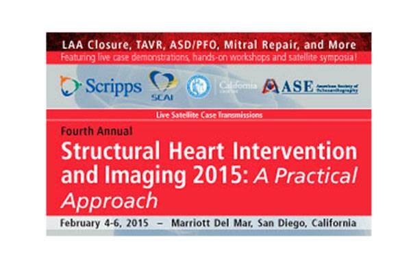 Scripps' Structural Heart Intervention and Imaging conference is designed to provide a practical, cutting-edge, case-based assessment of the emerging area of structural heart disease intervention and interventional cardiovascular imaging.