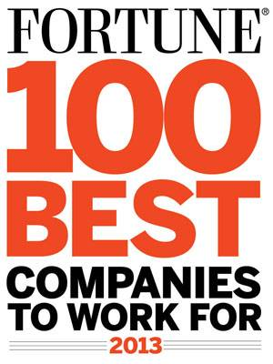 Fortune top 100 companies to work for 2013 list