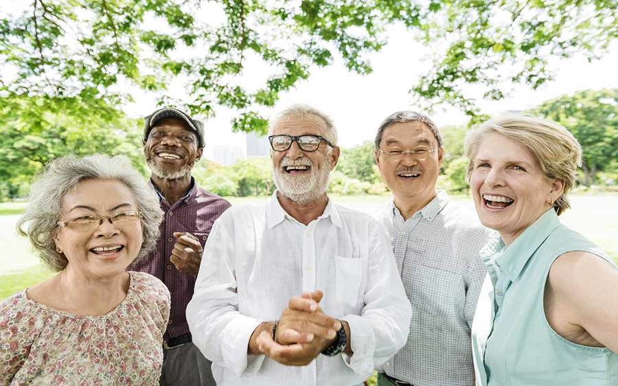 group-of-multi-ethnic-older-people- outdoors