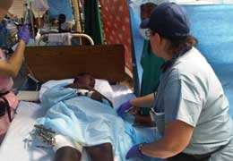 Haiti - patient and Scripps nurse Skoglund