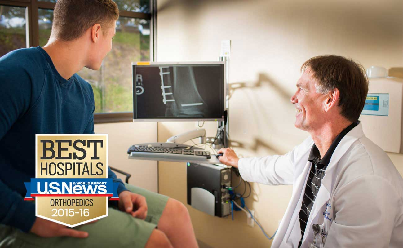 Scripps Health was ranked the best hospital in San Diego for orthopedics care by U.S. News & World Report.