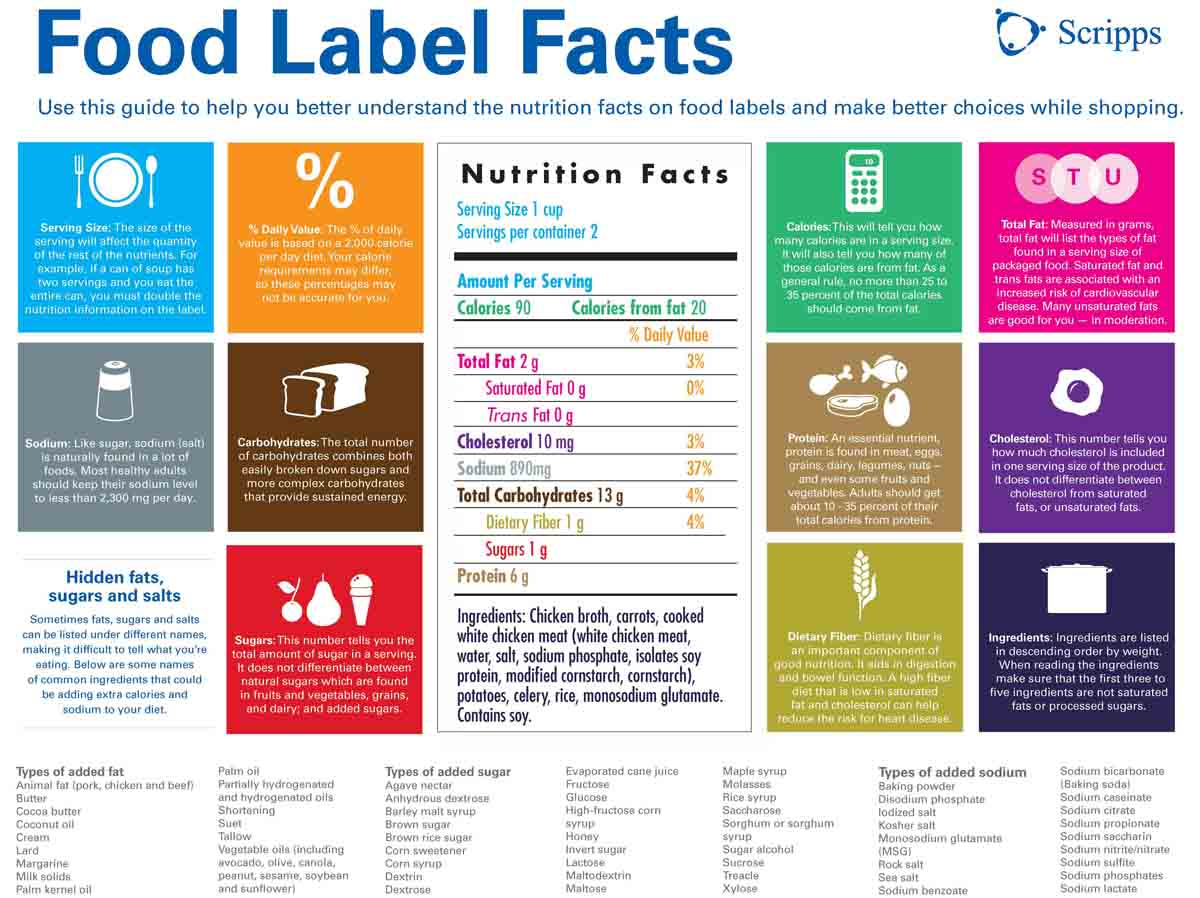 Nutrition Label Infographic