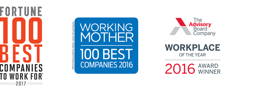 Fortune, Working Mother and Advisory Board award logos