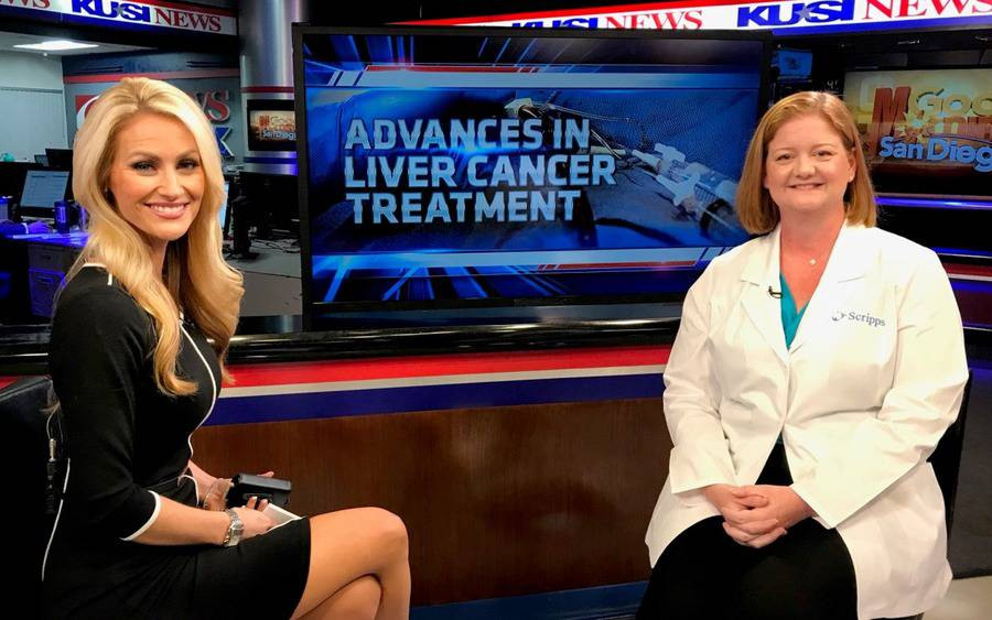 KUSI anchor Lauren Phinney and Dr. Catherine Frenette of Scripps Clinic