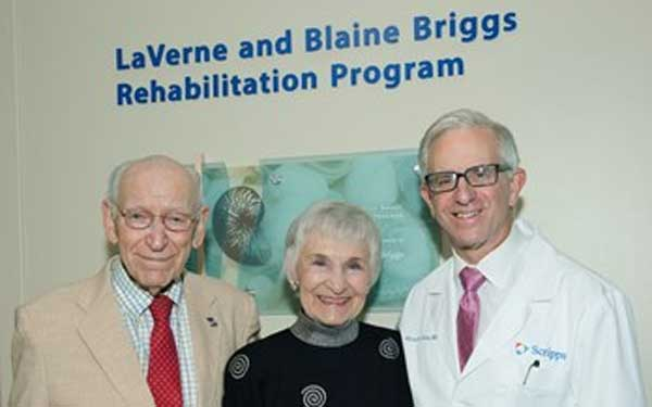 Briggs Rehabilitation Program opened from the generousity of the LaVerne and Blaine Briggs Rehabilitation and Neuroscience Fund.