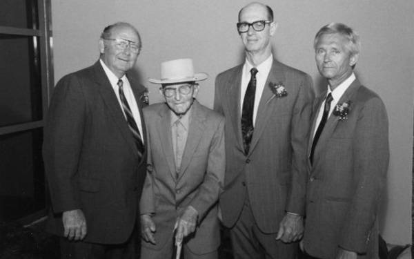 "Scripps Encinitas Co-founders Dr. Charles Clark, Herman ""Pop"" Wiegand, Dr. Ronald Summers and Dr. Dwight Cook."