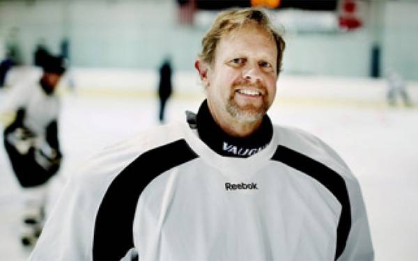 After shoulder replacement surgery last year at Scripps, Kevin Barnard is back to playing competitive ice hockey at the Escondido Iceoplex.