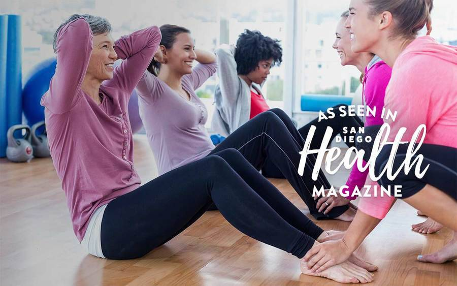 Women going through perimenopause or menopause exercising together