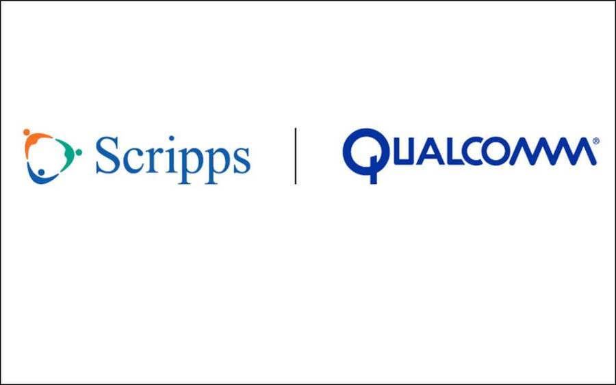 The Scripps Health and Qualcomm logos on a white background.