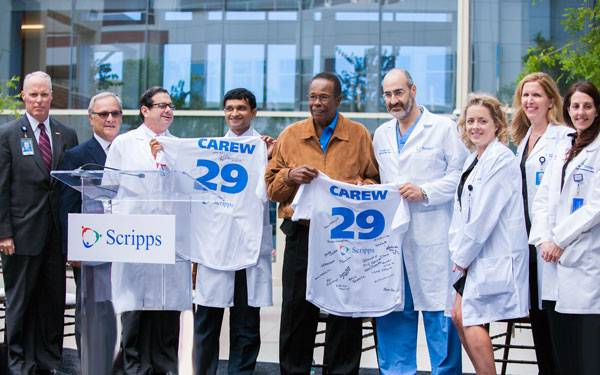 Scripps Health San Diego Patient, Rod Carew's recovery.