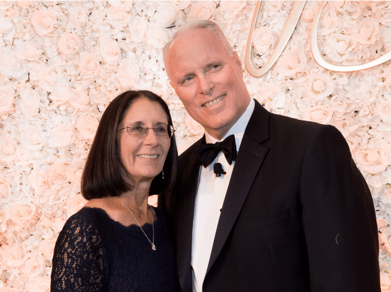 Rosemary Van Gorder and Chris Van Gorder, Scripps Health President and CEO at Candlelight Ball 2018.