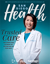 Scripps Clinic vice president of primary care and internist Siu Ming Geary, MD. is featured on the cover of the September issue of San Diego Health.