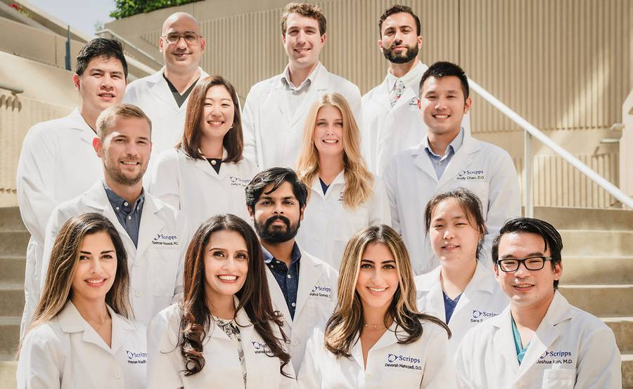 Members of the Scripps Mercy Internal Medicine Residency program gather for a photo.