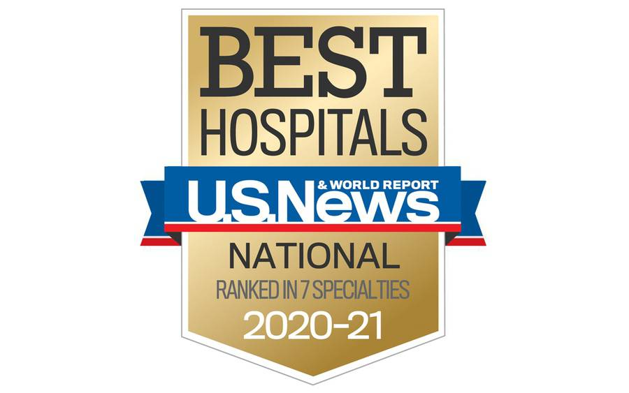 Icon for Best Hospitals 2020-2021 from U.S. News & World Report, which nationally ranked Scripps Health in 7 specialties.
