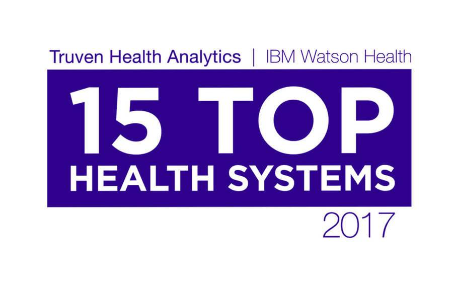 The Truven Health Analytics 15 Top Health Systems logo for 2017, where Scripps landed top five honors.