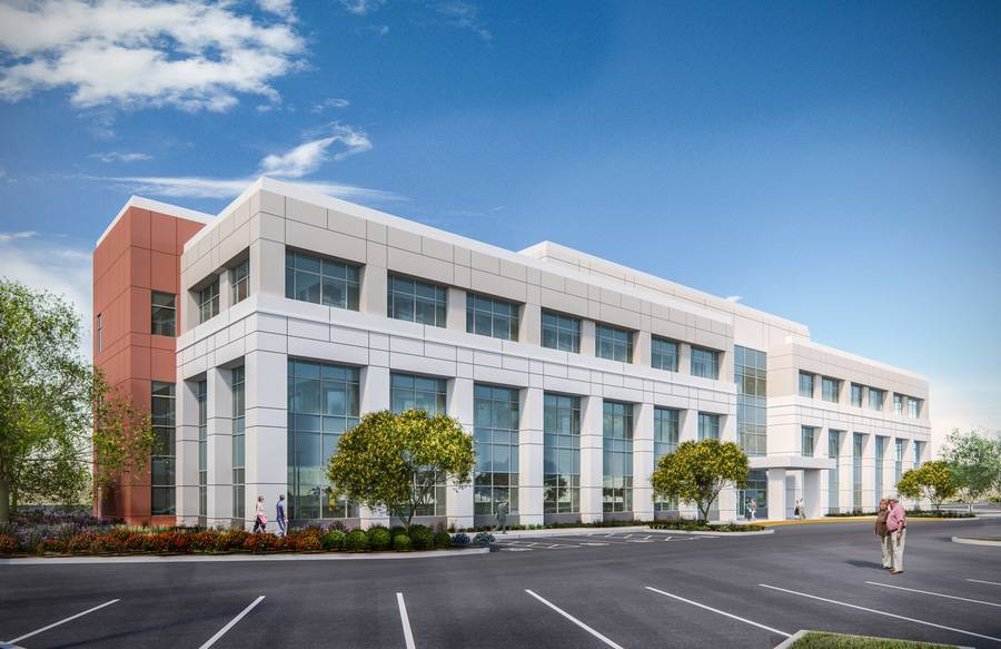 Rendering of new medical office building at Scripps Memorial Hospital Encinitas.