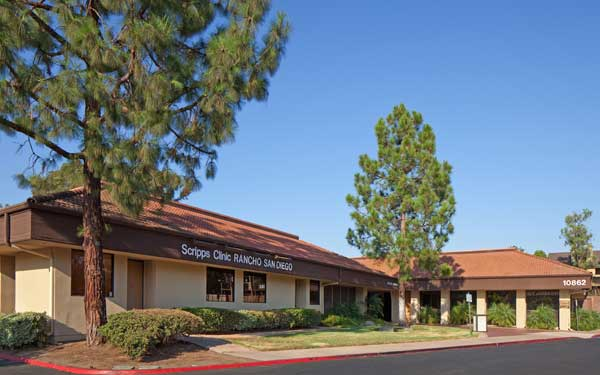 The exterior of Scripps Clinic Rancho San Diego's office on Calle Verde, located off Highway 94 in La Mesa.