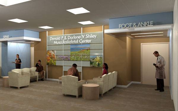 Shiley Musculoskeletal Center Rendering