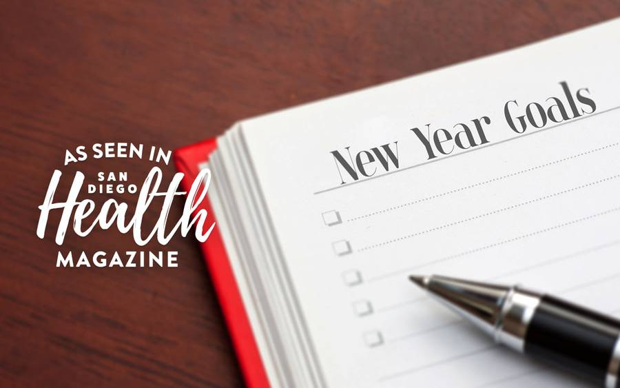 San Diego Health Magazine and Scripps experts share a list of simple resolutions to achieve health and happiness in 2019.