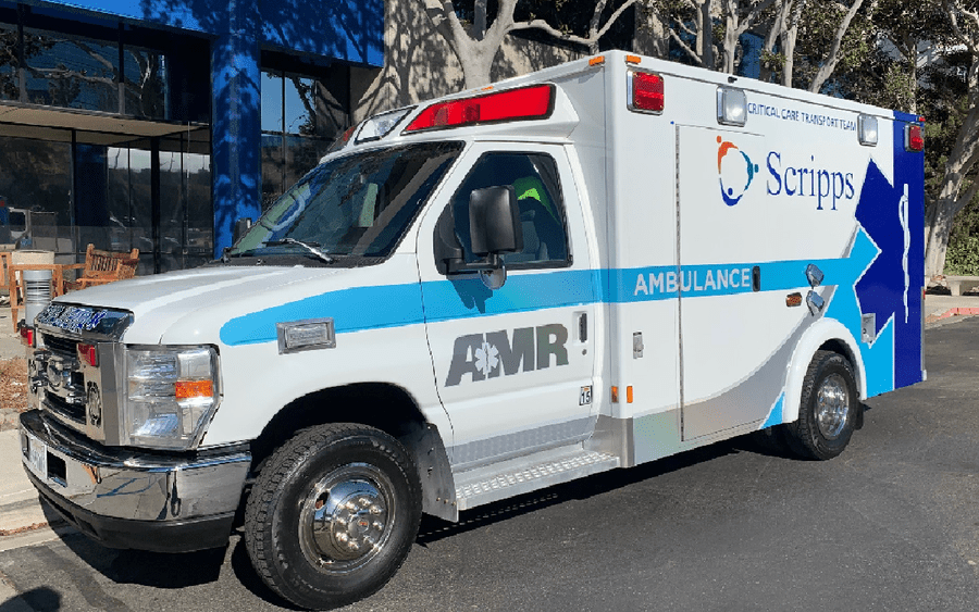 Specialty critical care ambulance at Scripps.