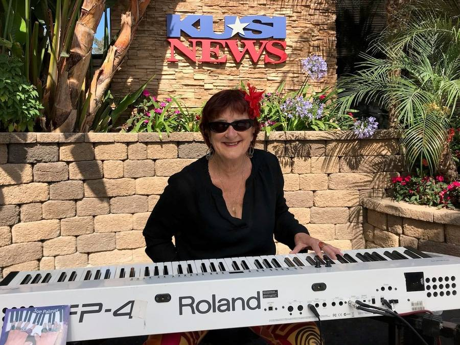 Cancer survivor Sue Palmer is a musician who recently performed on KUSI.