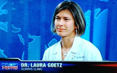Laura Goetz, MD, of Scripps Clinic, San Diego,  interviewed on KUSI TV  offering  insights on a study linking daily low-dose aspirin to lower developing certain cancers.