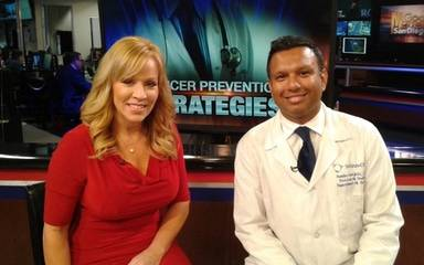 KUSI Anchor Ginger Jeffries and Scripps Urological Oncology Surgeon Ramdev Konijeti, MD, discuss new study by the American Cancer Society
