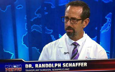 Randolph Schaffer, MD, Scripps Clinic transplant surgeon, recently discussed organ transplant procedures on KUSI.