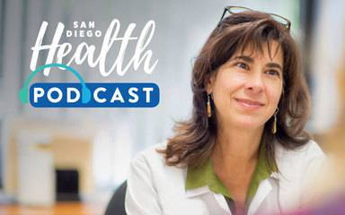 Dr. Athena Philis-Tsimikas, corporate vice president of the Scripps Whittier Diabetes Institute is seen in this photo promoting her podcast on new diabetes technologies.