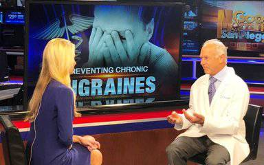 Jack Schim, MD, a Scripps neurologist, discusses a new FDA-approved drug to treat migraine headaches with KUSI anchor Lauren Phinney.